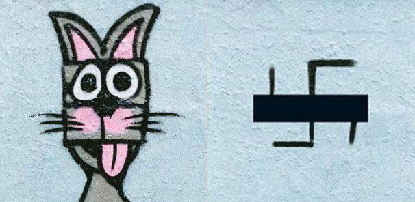 Street art e graffiti al posto delle svastiche: Berlino combatte il nazismo con la fantasia