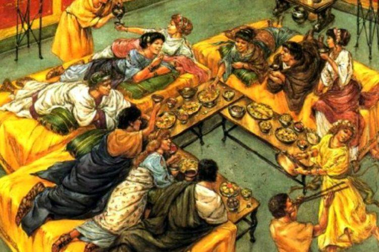 Il banchetto funebre in epoca romana pre-cristiana