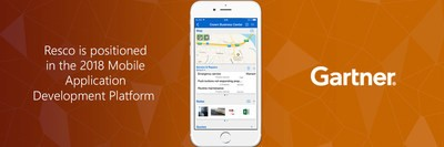 Gartner cite Resco dans le Magic Quadrant dans la catégorie Plateformes de développement d'applis mobiles