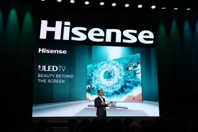 Hisense presenta la última tecnología de pantallas en CES con TriChroma Laser TV y Super-thin Sonic One TV